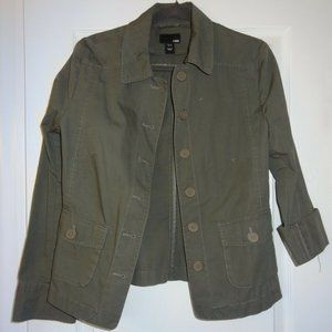 EUC H&M Army Green Light Jacket Tag Size US 8